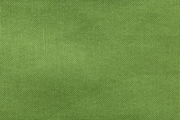 textured background rough fabric of green olive color
