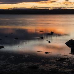 Moulting Lagoon in Tasmania, Australia