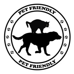 Pet friendly round sign