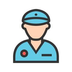 Policeman, police, hat