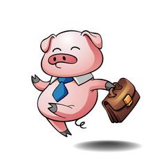 Mascot Business Pig