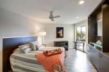 Contemporary condo home bedroom interior