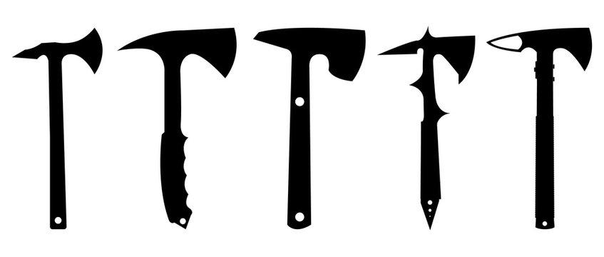 Tomahawk silhouette set