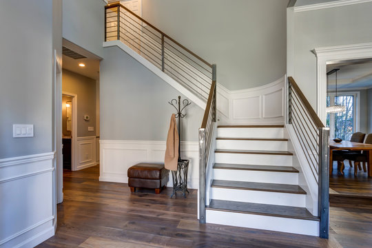 Luxury custom built home interior