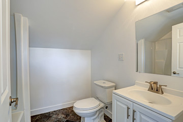 White clean bathroom interior