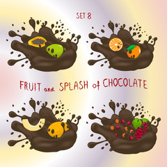 Vector illustration for ripe fruit