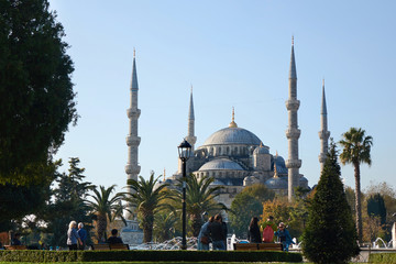 beautiful view of the Blue Mosque