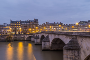 Pont Neuf in central Paris, France.