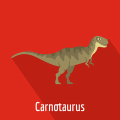 Carnotaurus icon. Flat illustration of carnotaurus vector icon for web.