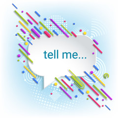 Speech bubbles. Abstract dialog box. Template for communication, advertising. Sticker. Blue background. Radio signal. Telephone call on mobile communication.