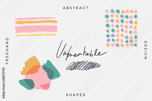 Vector Abstract Covers Templates, Graphic Poster with Pastel