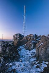 Communications radio tower in Hobart on Mount Wellington.