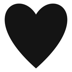 Open heart icon. Simple illustration of open heart vector icon for web.