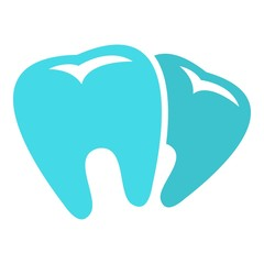 Bad tooth logo icon. Flat illustration of bad tooth, vector icon for web.