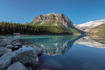 Lake Louise in Canadian Rockies, Banff National Park, Canada.