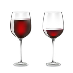 Transparency wine glass.