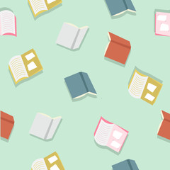 colorful books pattern vector