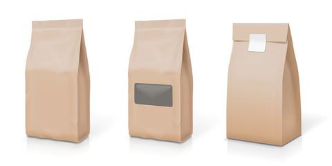 Paper foil for food stand up snack sachet bag packaging set