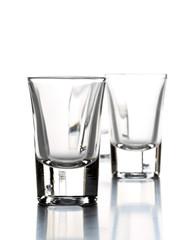 Row of empty shot glasses