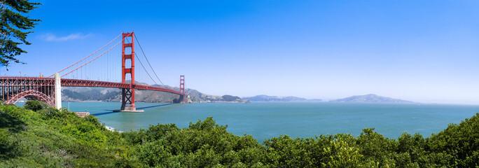 San Francisco Golden Gate Bridge Panorama als Hintergrund