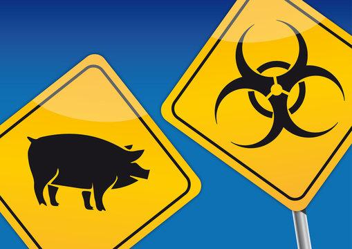 Afrikanische Schweinepest Warnschilder ASP