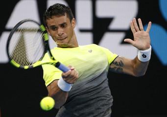 Tennis - Australian Open - Nick Kyrgios of Australia v Rogerio Dutra Silva of Brazil - Hisense Arena, Melbourne, Australia
