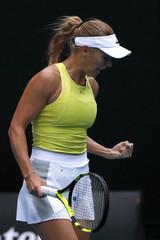 Tennis - Australian Open - Mihaela Buzarnescu of Romania v Caroline Wozniacki of Denmark - Margaret Court Arena, Melbourne, Australia