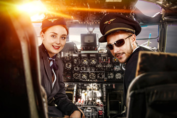 airplane interior and pilot