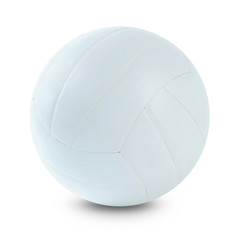 White volleyball on white background