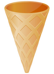 Empty ice cream cone vector image