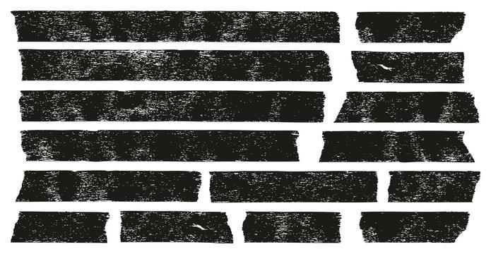 Masking Tape Black Grunge Set 01