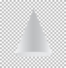 cone isolated on transparent background. cone sign. 3d cone basic shape.