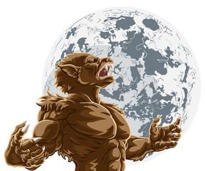 Werewolf Full Moon Scary Horror Monster