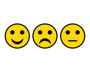 Smileys auf weiss