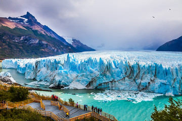 In de dag Gletsjers Glacier Perito Moreno in the Patagonia