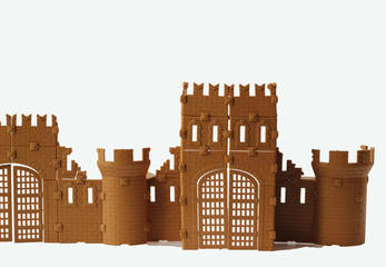 Castle for the Prince on a white background