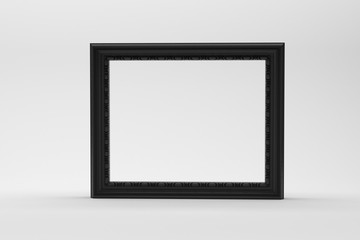 Blank empty picture frame on white table