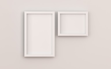 Blank  picture frame templates set on white background