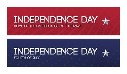Two patriotic web banners for Independence day.
