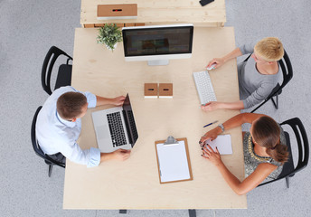 Group of business people working together in office . business people