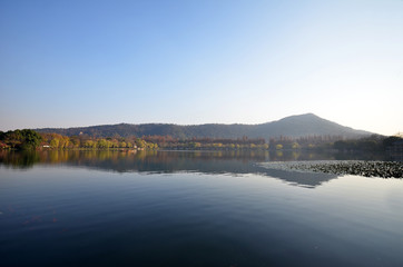 Landscape of West lake in Hangzhou, China