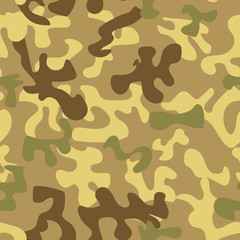 Seamless camouflage pattern in green tones