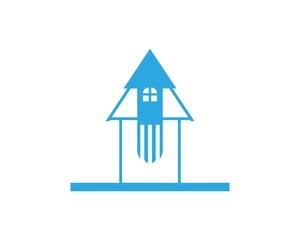 Building home logo design template