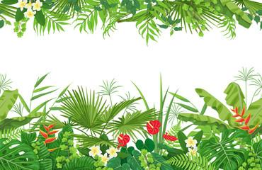 Tropical Plants Seamless Border