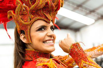 Brazilian Woman Celebrating Carnaval