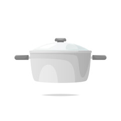 Cooking pot vector isolated