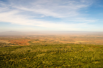 View of the rift valley in northwestern Kenya