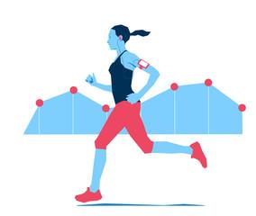 Jogging e misurazione dell'attività fisica