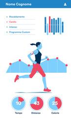 Applicazione per misurare l'attività fisica