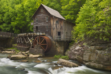 Glade Creek Grist Mill in West Virginia, USA